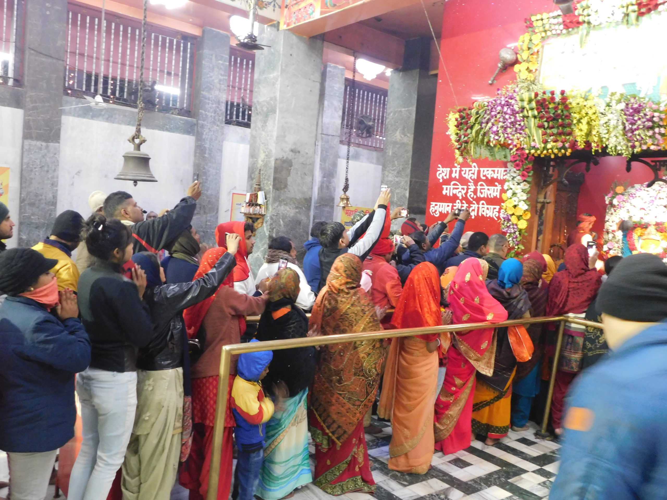 Devotees preying lord Hanuman