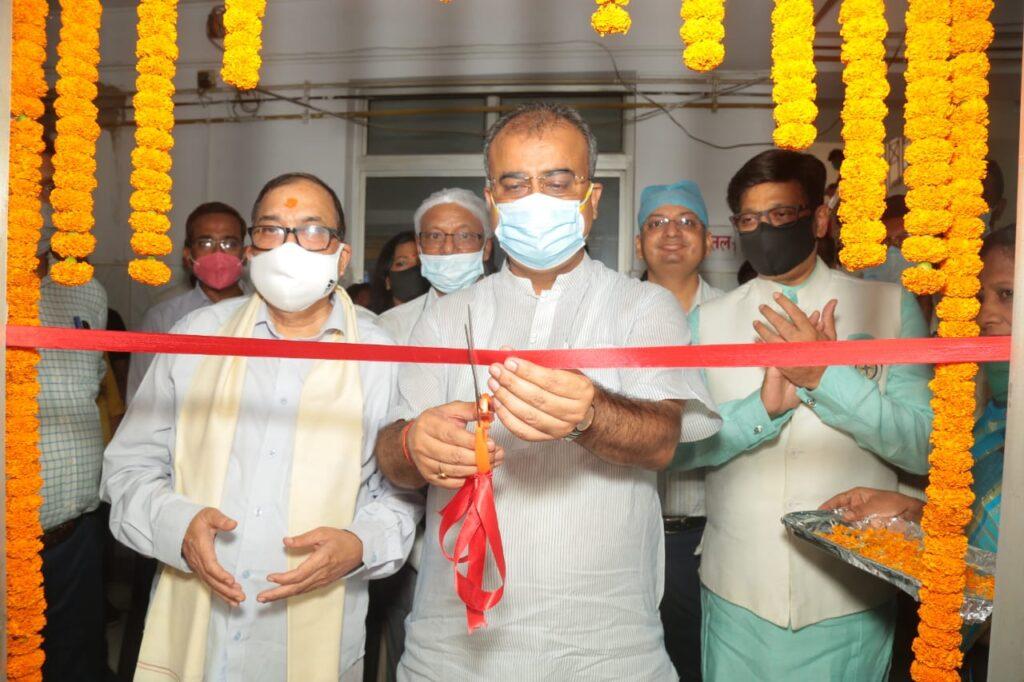 महावीर वात्सल्य अस्पताल में बच्चों के लिए 90 ऑक्सीजन बेड का विशेष वार्ड - स्वास्थ्य मंत्री मंगल पांडेय ने किया उद्घाटन