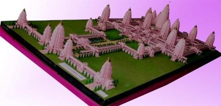 Model of the viraat Ramayan Mandir